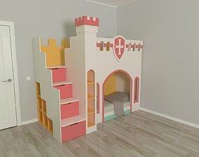 Castle 3D bed-for-girl
