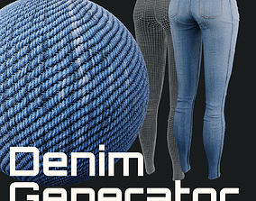 3D model Denim Generator - Procedural Shader