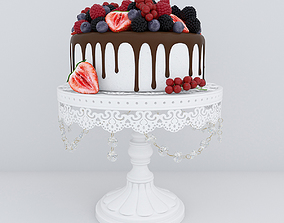 blueberry 3D Berry cake