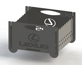 3D printable model Grill with Lexus logo 300x300 for laser