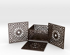 Arabesque Coasters and Holder 3D printable model