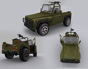 3D model land rover defender military