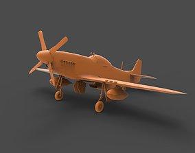 3D printable model P-51 Mustang