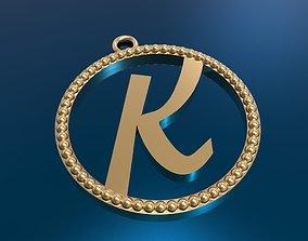 luxury 3D printable model alfafit pendant