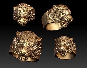 jewelry Tiger ring 3D printable model