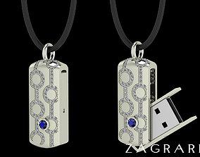 USB Flash Drive Pendant Or Key chain 3D print model