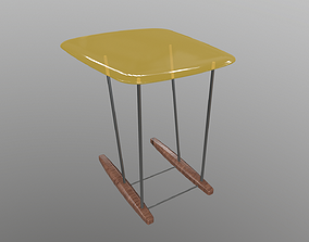 Side Table 3D model animated