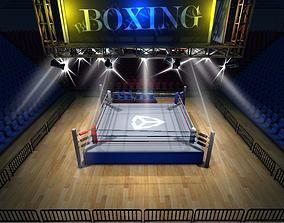 Boxing stadium 3D model