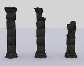 3D model Lowpoly Pillars Columns