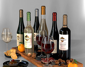 Wine collection 3D