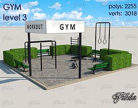 3D asset Gym Level