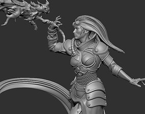 3D printable model Flame wizard Chandra MTG Magic The