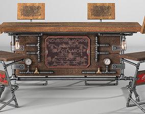 3D model Steampunk Table Set