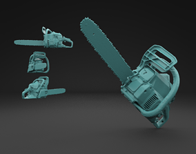 Scanned Chainsaw 3D Print Model limbing