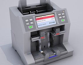 Currency Counting Machine 3D