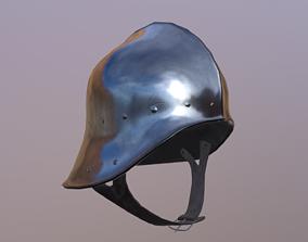 Helmet 3D model VR / AR ready crusader