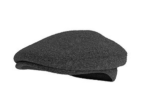 3D Gray Woolen Hat
