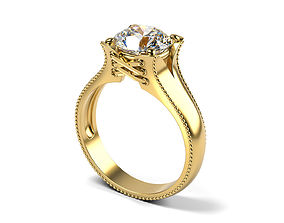 3D print model Lacing Engagement Ring