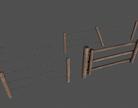 3D model Wood Fence pack