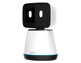 Generic Home Assistant Robot 01 Black and White 3D model