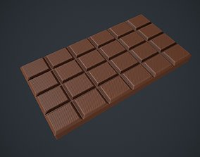 3D model low-poly Chocolate Bar