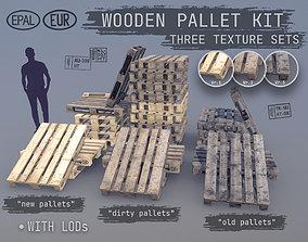 Cargo Wood Pallets EUR EPAL 3D model
