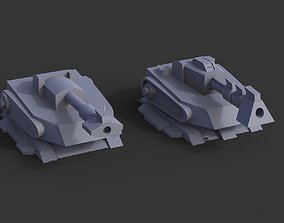 3dprint Automatic Cannon - Wargame Model