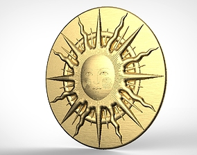 Medieval sun symbol for 3D printing or CNC machining