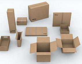3D asset 10 different Boxes