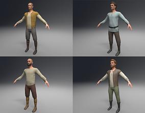 3D model Four Peasant Men peasant