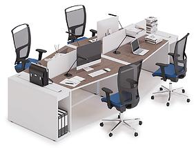 Office workspace LAS LOGIC v10 3D model
