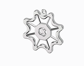 Flower Star Pendant 3D print model
