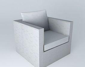 Armchair gray IBIZA houses the world 3D