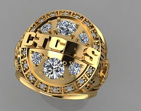 jewelry FASHION RING 3D model rigged