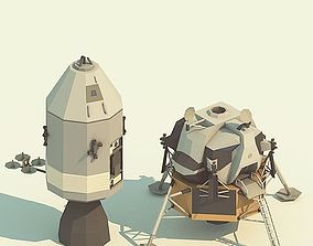 low-poly Apollo-11 LowPoly models pack