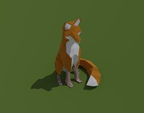 LOW POLY ASSET FOX TRUCK MODELS - LOWPOLYGONAL low-poly