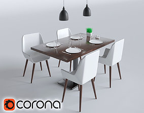 CAFE FURNITURE SET 3D model