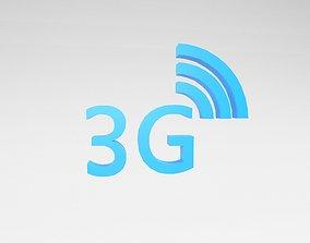 Mobile Signal Symbol 3G v1 003 3D model