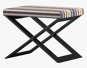 3D Striped Bench