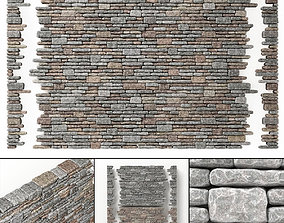 3D model Brick rock facture many part