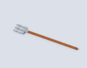 Voxel Pitchforks T1 3D model