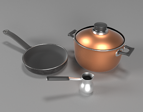 3D PBR family kitchenware