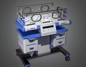 Hospital Incubator HPL - PBR Game Ready 3D model