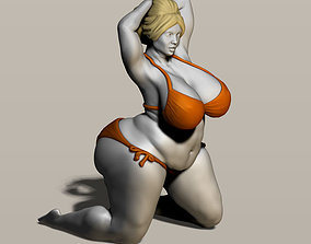 fat woman 3D printable model