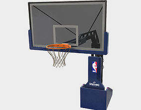 3D model Low Poly PBR Basketball Hoop