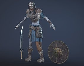 Zombie Scout Soldier with armor and weapons 3D model