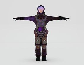 futuristic Cosmonaut 2 3D asset