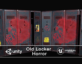 3D asset Horror Old Locker