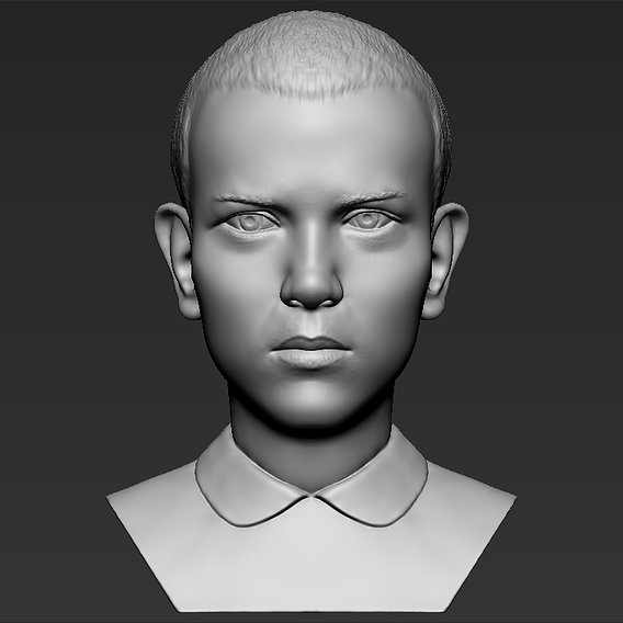 Eleven Stranger Things bust for 3D printing