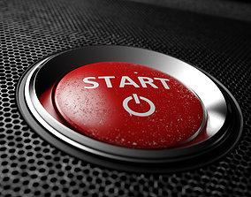 Start button 3d model free
